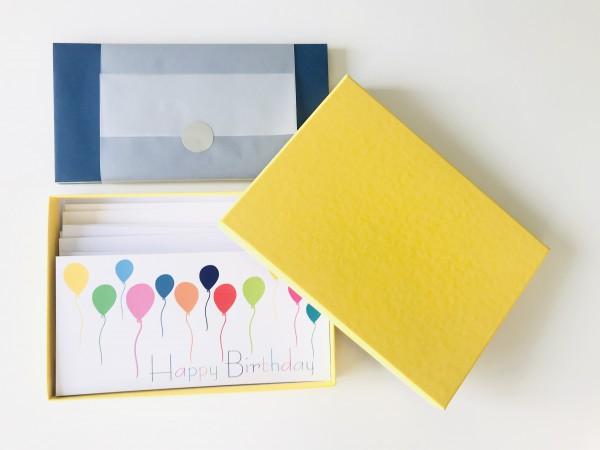 Kartenbox sonnengelb: 10 besondere Grußkarten in der edlen artoz Pure Box A5 in sonnengelb