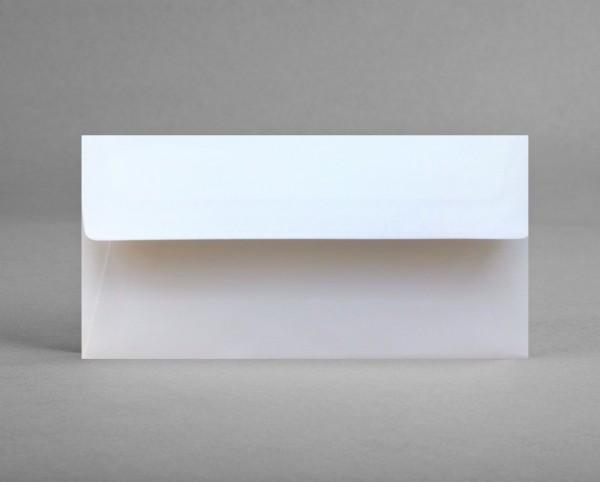 5 original Artoz Kuverts in blütenweiß, C6, DIN lang, ohne Sichtfenster (Set)