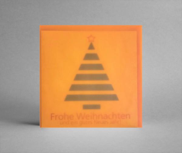 """AUSDRUCKSSTARK MIT ORANGE: Weihnachtskarte """"Weihnachtsbaum schwarz-weiß"""" inkl. Kuvert"""