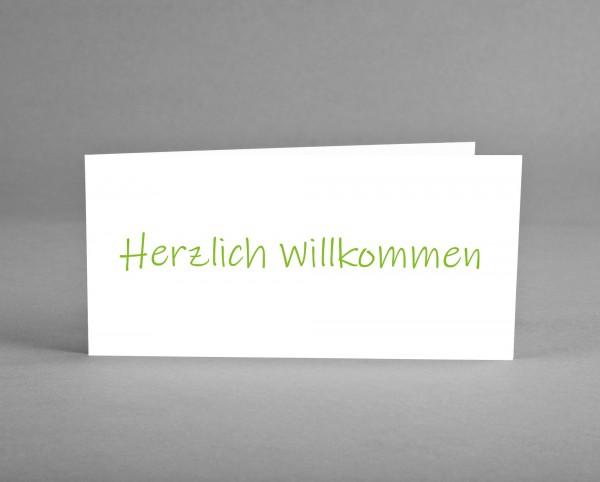 HERZLICH WILLKOMMEN: Universelle Grußkarte zum Willkommen heißen inkl. Kuvert