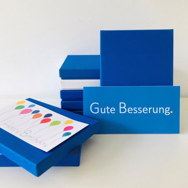 In majestetic blue: Stabile Schachtel als Geschenkbox o. Fotobox - original artoz PURE Box A5