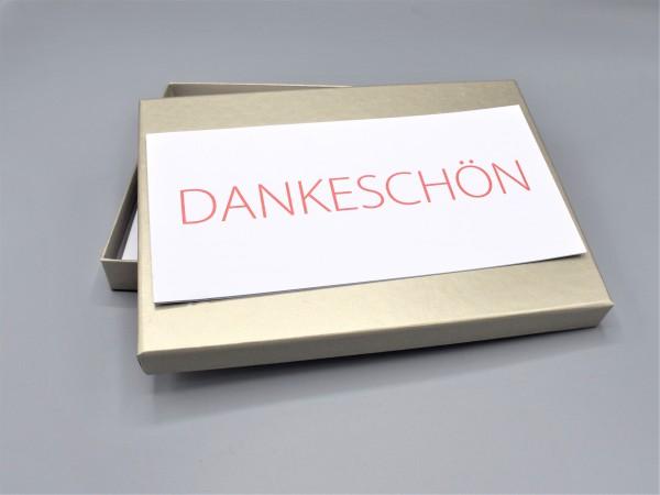"""10 besondere Grußkarten in der artoz Pure Box A5 in sand glow als """"Begleiter durch das Jahr 3"""""""