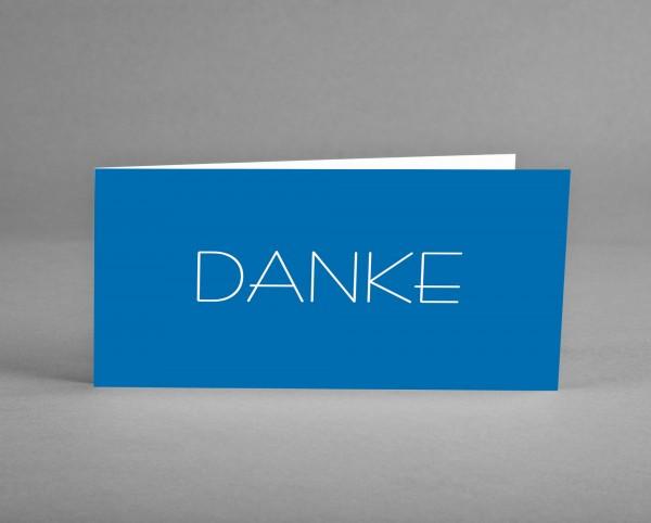 MEE(H)RBLAU: Danke-Karte mit weißer Schrift inkl. Kuvert