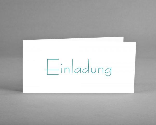 ZEITLOS: Einladungskarte grün auf weiß inkl. Kuvert und Versand