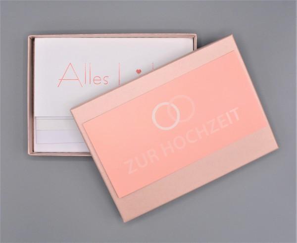 """Kartenbox in mandarin mit 10 verschiedenen Grußkarten """"Bunter Mix durch das Jahr 1"""""""