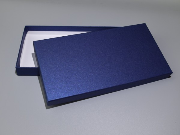 DIN LANG SAPHIR GLOW: Geschenkschachtel, Kartenbox mit Deckel im Format 240 x 125 x 25