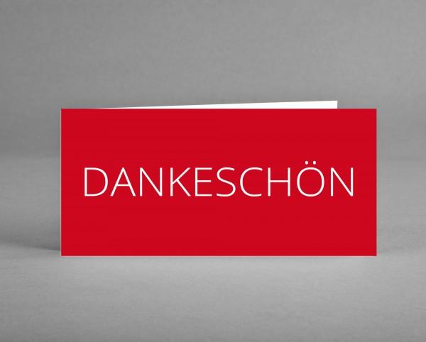 ELEGANT: Dankeschön-Karte rot inkl. Kuvert und Versand