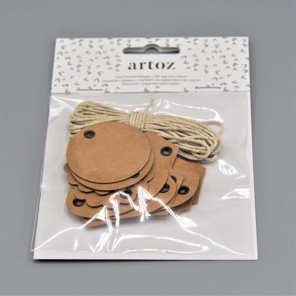 HANGTAG Geschenkanhänger aus Kraftpapier von artoz