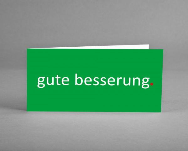 """HOFFNUNGSVOLL: Grußkarte """"gute besserung"""" in grün inkl. Kuvert und Versand"""