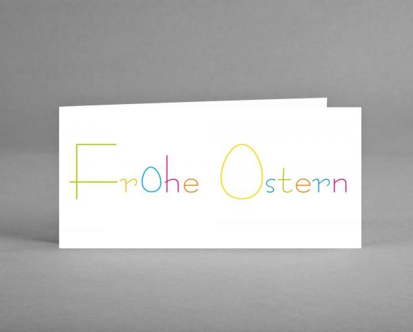 """FRÖHLICH: Grußkarte """"Frohe Ostern"""" inkl. Kuvert"""