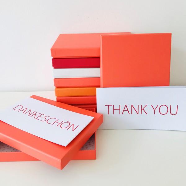 In coralle: Stabile Schachtel mit Deckel als Geschenkbox oder Fotobox - original artoz PURE Box A5