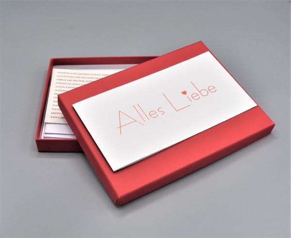 """Kartenbox in rot mit 10 verschiedenen Grußkarten """"Weiße Kollektion 1"""""""