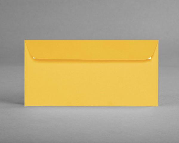 5 original Artoz Kuverts, sonnengelb, C6, DIN lang, ohne Sichtfenster (Set)