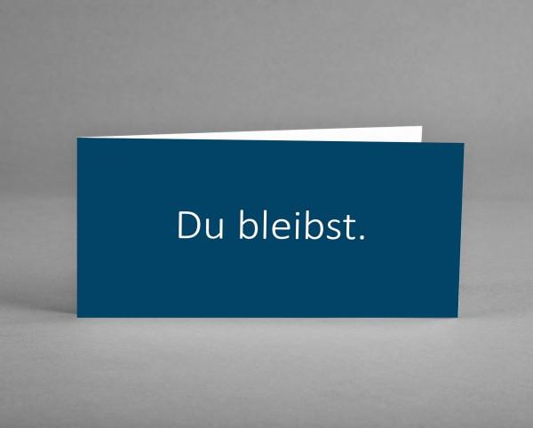 "MODERN: Trauerkarte ""Du bleibst"" nachtblau inkl. Kuvert"