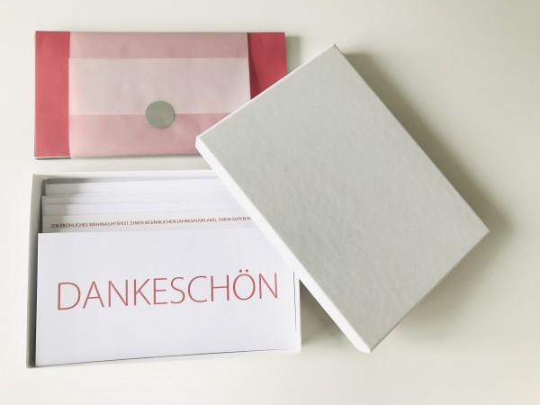 Kartenbox weiß: 10 besondere Grußkarten in der edlen artoz Pure Box A5 in weiß mit artoz Kuverts